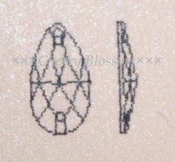 画像2: スワロフスキー ドロップ型 CrystalAB
