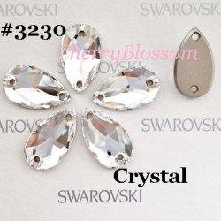 画像1: スワロフスキー ドロップ型 Crystal