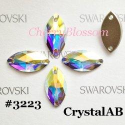 画像1: スワロフスキー ナベット型 CrystalAB